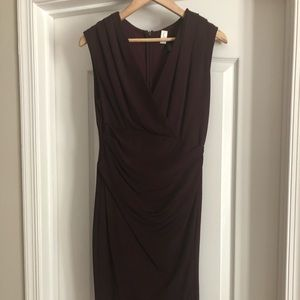 "Perfect ""day to night"" dark purple dress, WHBM"